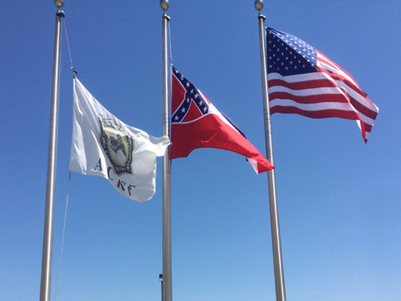 Alcorn County Correctional Facility 3 flags